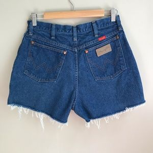 Vintage Wrangler Cutoff Jean Shorts Size 29 Blue